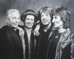 The Rolling Stones, Painting, Oil on Canvas