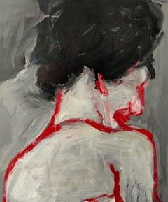 Portrait of an Unknown Lady in Lost Profile, Painting, Acrylic on Canvas