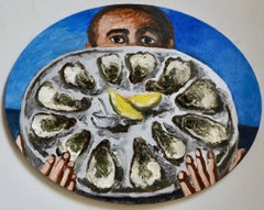 Waiter with oysters