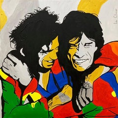 MICK AND KEITH, Painting, Acrylic on Canvas