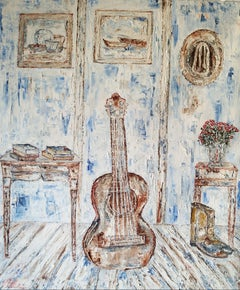 The Guitar, Painting, Oil on Canvas