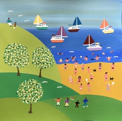 Watching out to sea, Painting, Acrylic on Paper