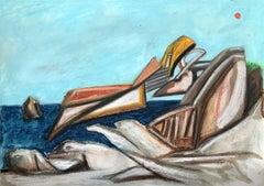 Landscape, Painting, Pastels on Paper