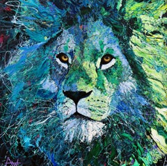Babber Sher - Large Painting, Painting, Oil on Canvas