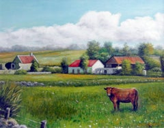 Bul in Field, Painting, Oil on Canvas