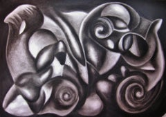Rumors, Drawing, Charcoal on Paper