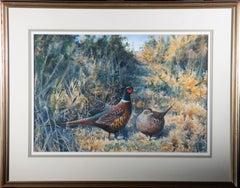 Richard J Smith (1955) - Contemporary Watercolour, Pair Of Pheasants