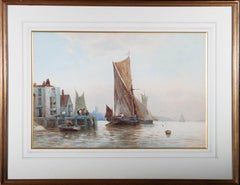 Robert Malcolm Lloyd (1859-1907) - 1889 Watercolour, Sailing Down The Estuary