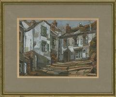 Sonia Robinson RSMA SWA - 20th Century Gouache, White Houses, Pont-Croix