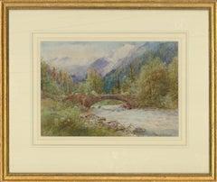Henry John Kinnaird (1861-1929) - Watercolour, River Scene, Switzerland