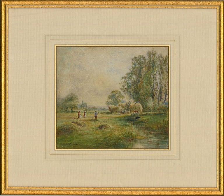 Henry John Kinnaird (1861-1929) - Late 19th Century Watercolour, Haymaking For Sale 1