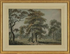 Follower of Paul Sandby RA (1731–1809)- 18thC Watercolour, House In The Meadow