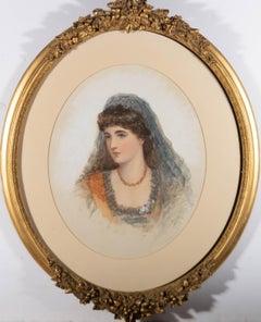 Late 19th Century Watercolour - Victorian Bride