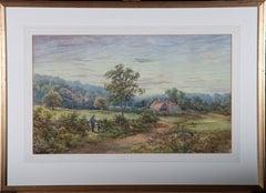 Attrib. Henry J. Stannard (1844-1920) - Watercolour, English Sunset
