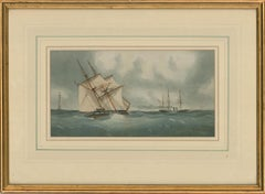 C.H. Lewis - Early 20th Century Watercolour, Dutch Ships at Sea