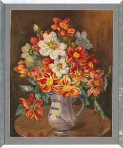 Marion Broom RWS (1878-1962) - Watercolour, Red and Yellow Flowers