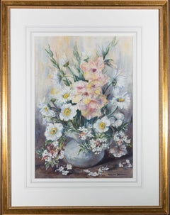 Marion Broom RWS (1878-1962) -Early 20th Century Watercolour, Late Summer Blooms