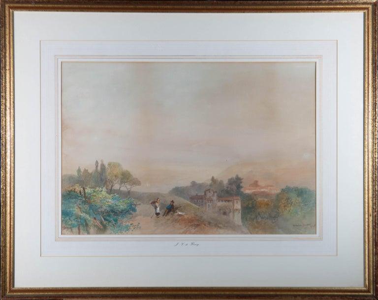 James Vivien de Fleury (1847-1902) - Late 19thC Watercolour, The Adige, Tyrol - Art by James Vivien de Fleury