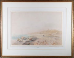 James Vivien de Fleury (1847-1902) - 1899 Watercolour, Beach Stroll