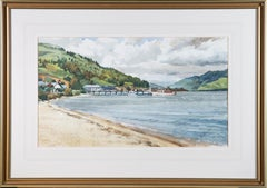 James Wallace - Signed & Framed Mid 20th Century Watercolour, Scottish Coast
