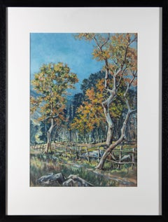 Moss Williams (1894-1975) - Signed Mid 20th Century Gouache, Summer's End