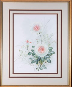 C. Williams - Signed & Framed Mid 20th Century Watercolour, Rose Study