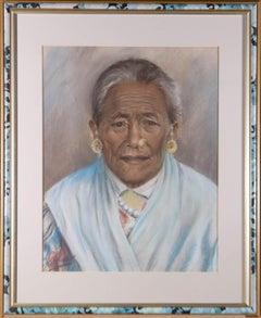 J. A. Hulbert (1900-1979) - Signed Mid 20th Century Pastel, Tibetan Woman