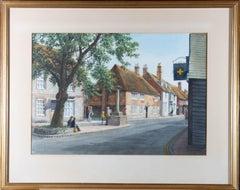 Joan Morgan - Signed & Framed Mid 20th Century Watercolour, Sleepy Village