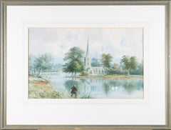 1871 Watercolour - Fly Fishing