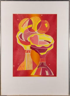 Susan Paine - 20th Century Gouache, Abstract Still Life