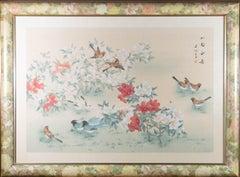 Early 20th Century Gouache - Birds Among Blossom