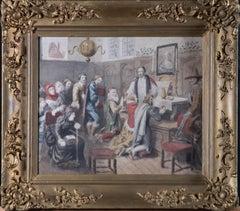 Follower of George Cattermole RWS (1800–1868) - 1883 Watercolour, Eucharist