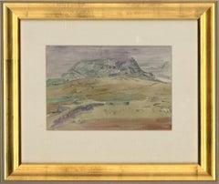 William Monk RE (1863-1937) - Framed c.1906 Watercolour, Mountain, Ireland