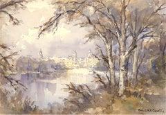 Conrad H. R Carelli (1869-1956)-Early 20th Century Watercolour, The Distant City