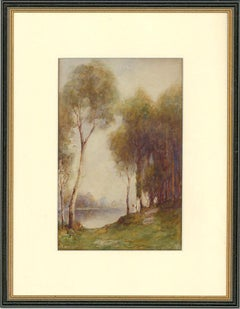 Horace Middleton R.B.A - Signed 19th Century Watercolour, At the Water's Edge