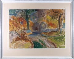 A S Burns RWS (1911-1987) - Signed Mid 20th Century Watercolour, Overgrown Road