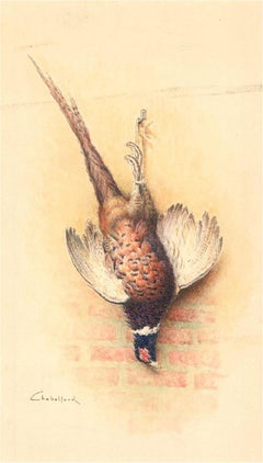 Chabellard - Signed & Framed Mid 20th Century Watercolour, Hung Pheasant