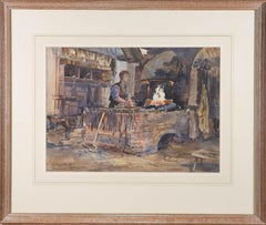 Winifred Clement Smith (1904-2000) - Watercolour, Blacksmith, Penshurst Forge