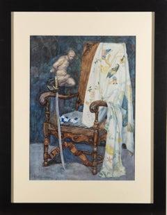 B.W.S. - 1909 Watercolour, The Chair