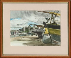 George J. Drought (b.1940) - 20th Century Watercolour, Conwy Boats