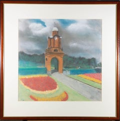 Framed 20th Century Pastel - Holbeck Clock Tower, Scarborough