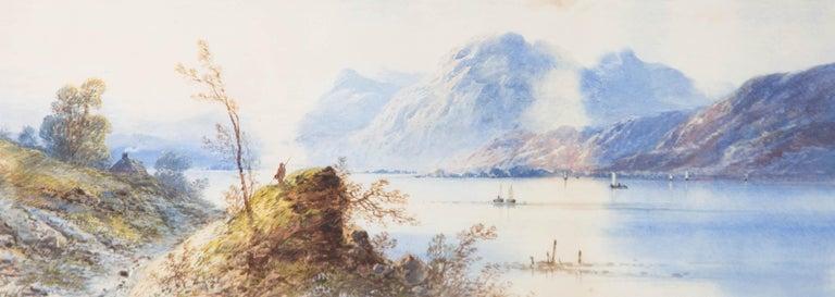 Edwin Earp (1851-1945) - Early 20th Century Watercolour, Misty Foothills - Beige Landscape Art by Edwin Earp