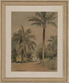 C. Hanahan - 1937 Watercolour, Tropical Forest