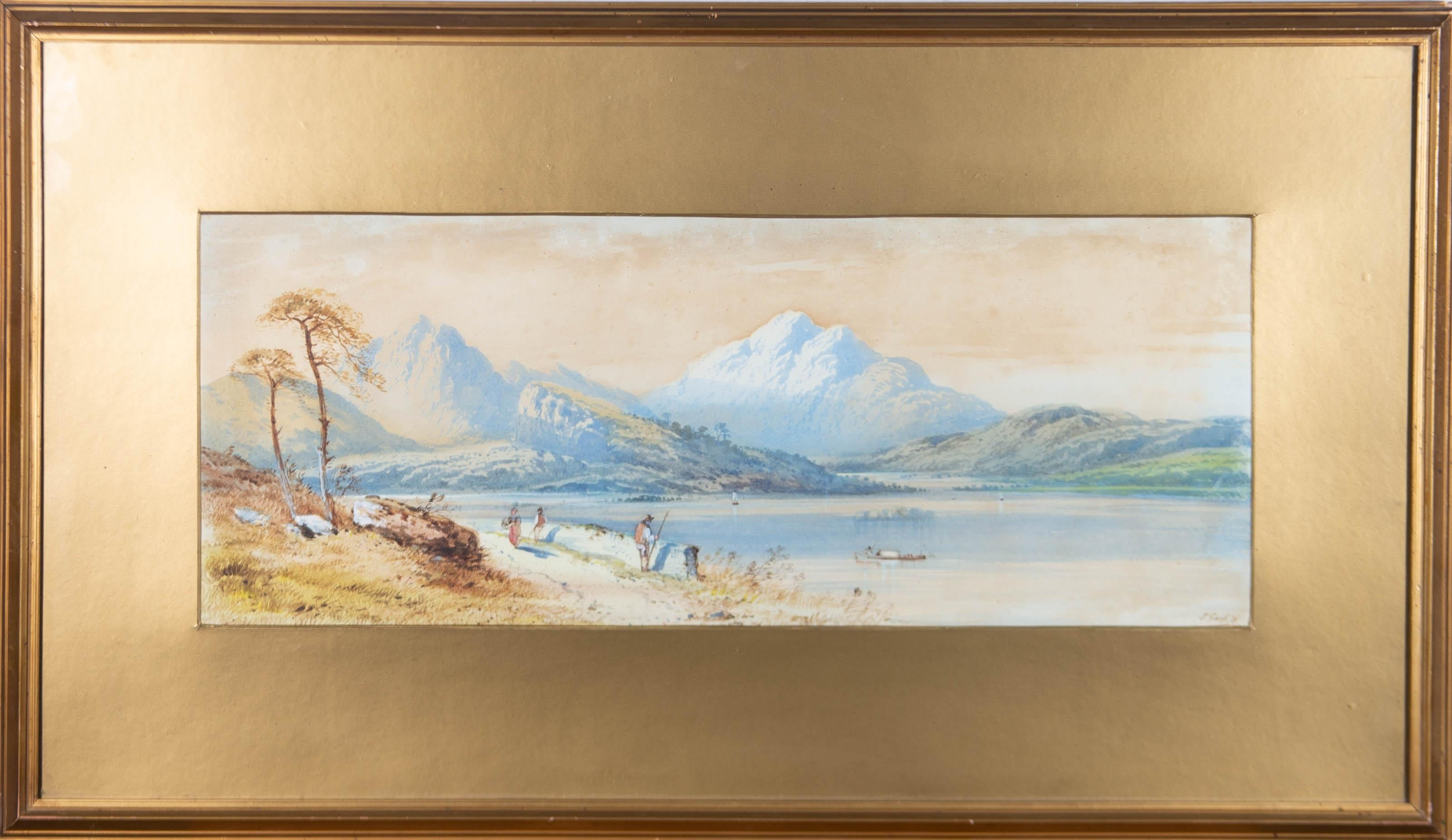 Edwin Earp (1851-1945) - Signed & Framed 1871 Watercolour, Summer by the River