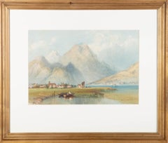 Philip Mitchell RI (1814-1896) - Mid 19th Century Watercolour, Alpine Landscape