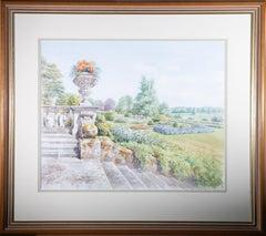 Andrew Miller - Contemporary Watercolour, An English Garden In Summer