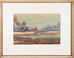 Fritz Kraml (1916-1988) - 20th Century Watercolour, A Misty Moor