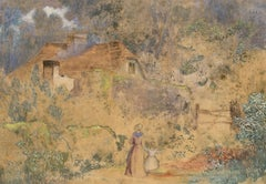Robert Tucker (1807-1891)- Mid 19th Century Watercolour, Cottage in the Woods
