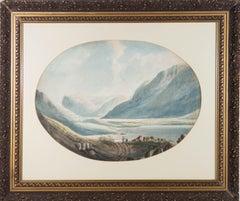 Early 19th Century Watercolour - Mountain Lake Scene