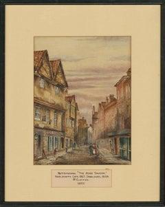 W. Clayton - 1857 Watercolour, The Rose Tavern